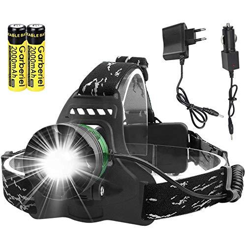ShineTool - Linterna frontal LED (3000 lúmenes, 3 modos, muy alta, USB,...