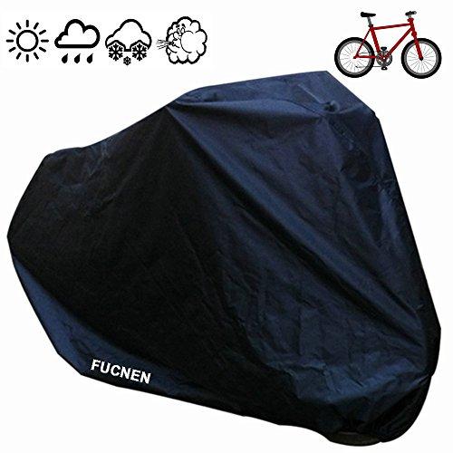 Universal Negro Cubierta de Bicicleta Impermeable Portátil Ligero para Exterior Interior de Almacenamiento 1 Bicicletas FUCNEN Funda para Bicicleta Anti Polvo Lluvia Nieve Viento UV Protección