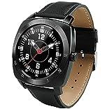 Jepssen Pan Watch Feel Black + Leather Smartwatch
