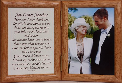 PersonalizedbyJoyceBoyce.com 5x7 Hinged My Other Mother Poem ~ Wedding/Christmas for The Mother-in-Law! (LIGHTMEDIUM)