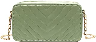 Wultia - Women Shoulder Bag Fashion Slant Rivet Crossbody Bags Messenger Shoulder Pure-Colour Bag 2019 New Design Shoulder Bags #G8 Green