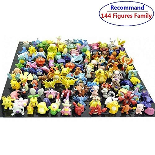 Pakesmon Toy Play Fun 144 pcs Heroes Action Figure Toy Set Mini Action Figures 2-3 cm Kid's Gift Figures Monster Toys Set Children Game