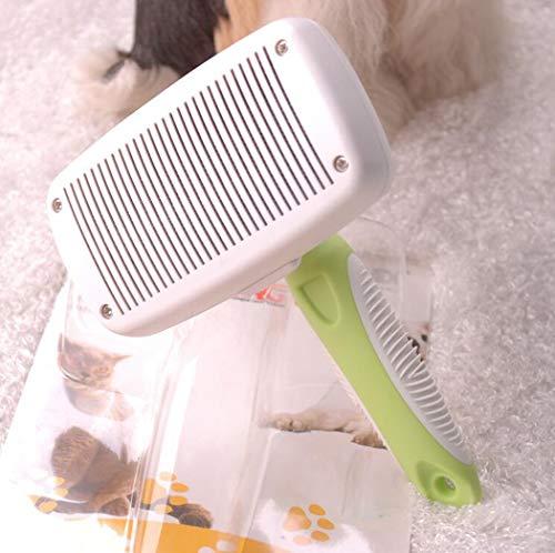 AZLLY zelfreinigende borstel voor huisdieren, verwijdert 90% van de onderlak, geschikt voor middelgrote en lange haren.