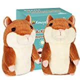 KMUYSL Bigger Talking Hamster - Repeats What You Say - Interactive Stuffed Plush Animal Talking Toy - Early Educational Toy, Fun Gift for Toddlers 1 2 3 Years Old, Boys & Girls, 2 Pack Included