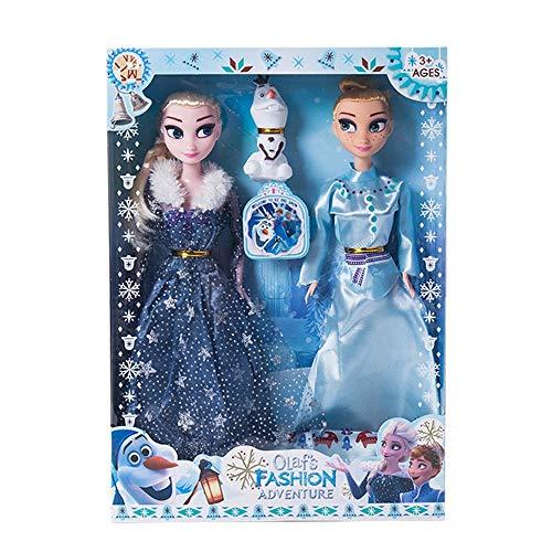 LSXX Congelada muñeca Anna Aisha Elsa Simulación Juguetes de plástico Juguetes niños 30cm 2 Piezas