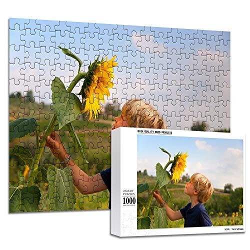 haellerry Benutzerdefinierte Puzzles aus Fotos 1000 500 300 200 Stück Personalisiertes Bildpuzzle für Erwachsene Jugendliche (1000 Stück)