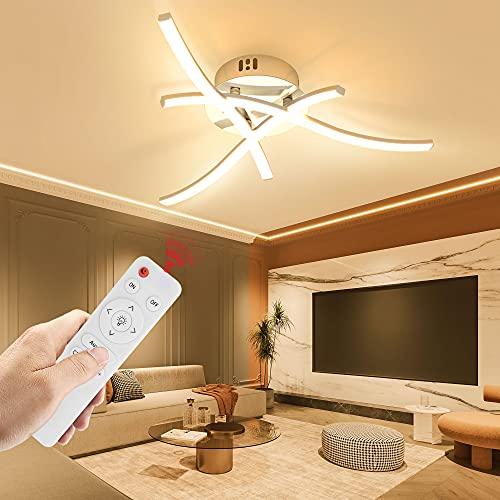 Wayrank Lámpara Led Techo Regulable, Plafon Led Techo con Mando a Distancia y Función de Memoria, 3 Placas de Luz LED para Sala de Estar Dormitorios Pasillo Oficina Cocina, 3000K-6000K