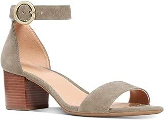 Michael Michael Kors Womens Lena Open Toe Ankle Strap Classic, Olive, Size 6.0