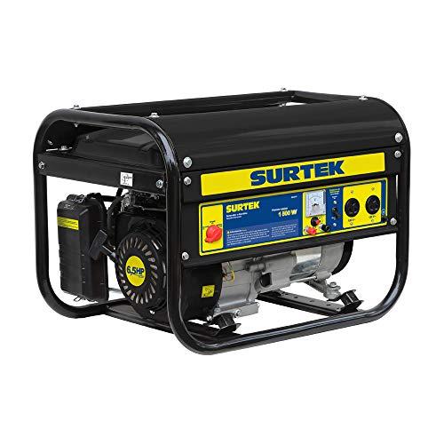 Surtek Gg518 Surtek Generador a Gasolina de 120 V, con Cilindrada de 163 CC, Potencia 1800 W, Motor con…