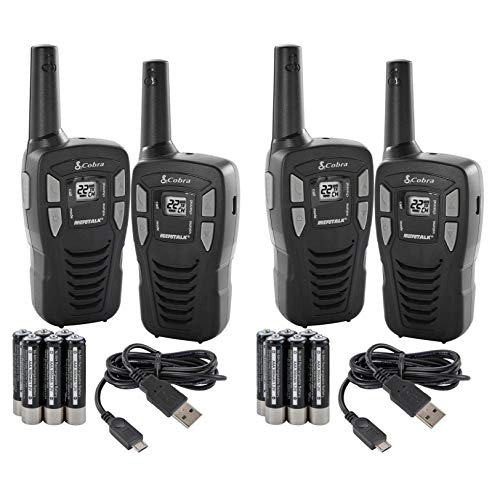 Price comparison product image NEW! (4) COBRA CXT145 MicroTalk 16 Mile 22 Channel Walkie Talkie 2 Way Radios