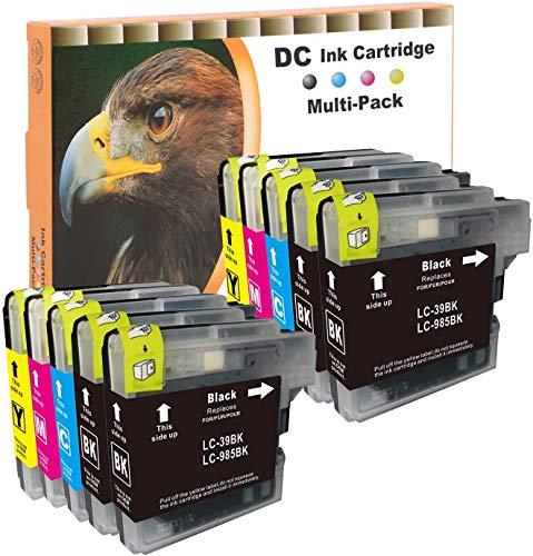 D&C 10x Druckerpatronen XL Kompatibel für Brother LC985 LC-985 LC-39 LC-975 für Brother DCP-J 125, DCP-J 140 W, DCP-J 315 W, DCP-J 515 W, MFC-J 220, MFC-J 265 W, MFC-J 410, MFC-J 415 W