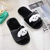 Flip Flop-GQ Zapatillas de casa_Botas de Interior de Fondo Suave para bebés Baby Comfort Comfort Zapatillas de Dibujos Animados de Espuma viscoelástica Indoor @ Black_32-33