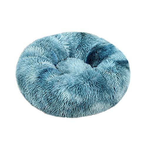 hongyang Gatos y Perros pequeños y medianos Cuddler Redondo cálido Cuddler Kennel Sofá Suave para Cachorros, Lavable a máquina