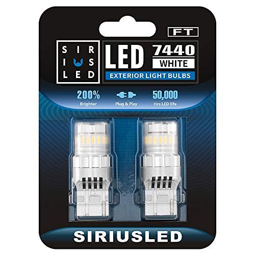 SIRIUSLED - FT- 7440 LED Backup Reverse Light Bulb Super Bright High Power Single Filament function...