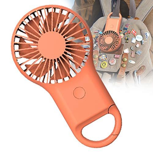 YONGCHY Ventilador De Mano Portátil, Ventilador Eléctrico De Mano, Mini Ventilador Ventilador USB Ventilador Eléctrico Ventilador De Escritorio Ventiladores De Mano para Mujeres,Naranja