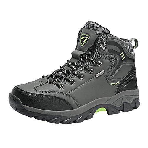 Xmiral Herren Laufschuhe Traillaufschuhe Sportschuhe Turnschuhe Sneakers Schuhe für Outdoor Fitnessschuhe Joggingschuhe(44,Grau)
