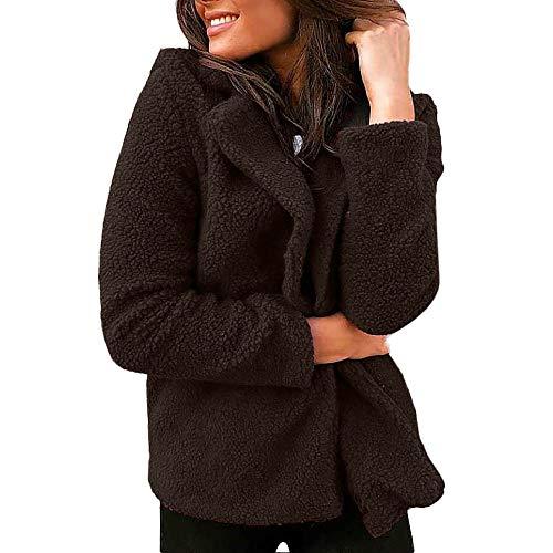 Deelin dames mode fluffy pluche jas dames mantel zacht solide kleur casual pluche blazer jas outwear