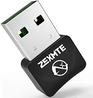 ZEXMTE Micro Bluetooth 5.0 Adapter for PC USB Mini Bluetooth Dongle for PC Wireless Transfer for Desktop Bluetooth Headpho...