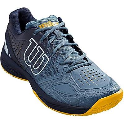 Wilson Kaos Comp 2.0, Zapatilla de Tenis para Todo Tipo de Terreno, tenistas de Cualquier Nivel Hombre, Azul/Azul/Dorado, 40 1/3 EU