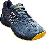 Wilson Kaos Comp 2.0, Zapatilla de Tenis para Todo Tipo de Terreno, tenistas de Cualquier Nivel Hombre, Azul/Azul/Dorado, 46 EU