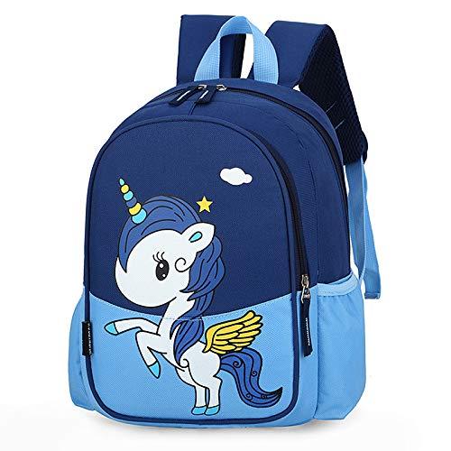 XMYNB Kinder Schultasche Cartoon Niedlichen Rucksack Pony Nylon Kinder Schultasche Himmelblau 22 * 11 * 31Cm
