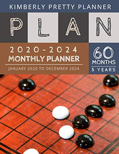 5 year monthly planner 2020-2024: personal calendar planner 5 year 2020-2024 for planning short term to long term goals | easy to use and overview your plan | go game design