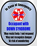 Down Syndrome Medical Alert Safety Decal Sticker