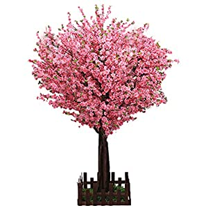 J-beauty Pink Artificial Cherry Blossom Tree Artificial Plant for Wedding Event Indoor Outdoor Party Restaurant Mall Silk Flower