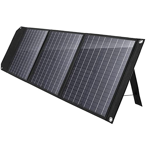 MARBERO 60W Solar Panel, Foldable Solar Panel Battery Charger for Portable Power Station Generator, iPhone, Ipad, Laptop, QC3.0/PD 60W USB Port & DC Output(10 Connectors) for Home Camping Van RV Trip