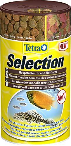 Tetra Selection (Hauptfutter-Mischung in 4 Sorten für Zierfische aller Wasserzonen), 1er Pack (1 x 250 ml Dose)