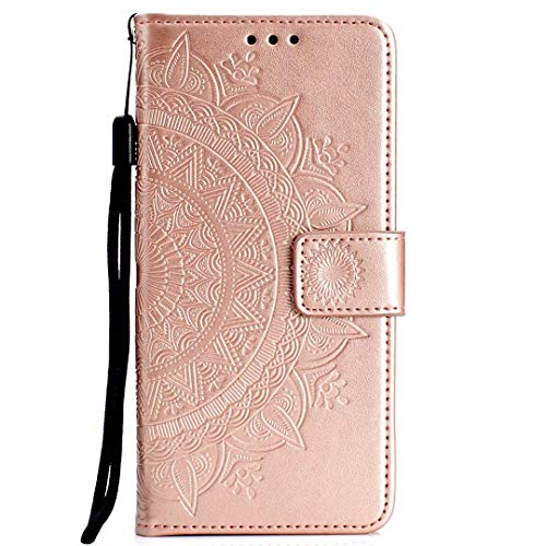 Samsung Galaxy S20 Ultra Case, Flip PU Leather Shockproof Wallet Phone Cases Mandala Folio Slim Fit Magnetic Protective Cover TPU Bumper with Stand Card Holder Slots for Samsung Galaxy S20 Ultra