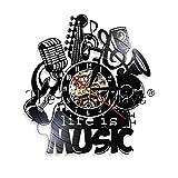 HHYXIN Reloj de Pared de Vinilo 1 Pieza Seiko Christmas LED Reloj de Pared Imagen Completa para Cool Wall Clock Música Seiko Musical Reloj de Pared Reparación Zoom Seiko Mini 12 Pulgadas