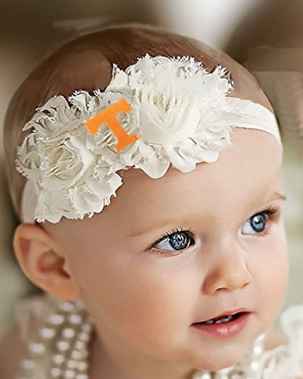 Future Tailgater Tennessee Volunteers Baby/Toddler Shabby Flower Hair Bow Headband