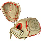 NOKONA Blonde Japanese CalfSKN 12.5 Inch J-V1250C NO Fastpitch Softball Glove - Neon Orange Lacing
