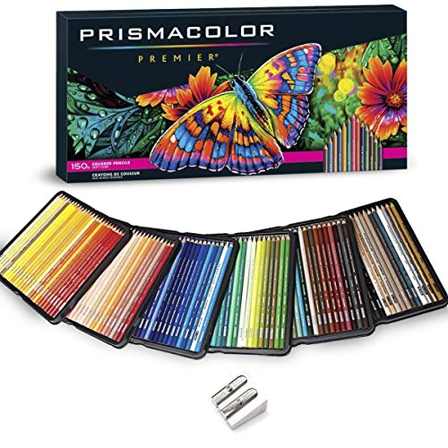 Prismacolor Colored Pencils Art Kit Artist Premier Wooden Soft Core Pencils 150 ct. with Pencil Sharpener [151 pc. Set]