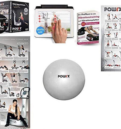 POWRX Vibrationsplatte mit Säule Active Evolution 3.5 - 5