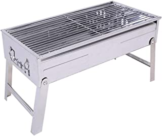 Wyhgry Stainless Steel Barbecue Grill Outdoor Charcoal BBQ,Folding Portable BBQ for 2-5 Persons Family Garden Outdoor Cook...