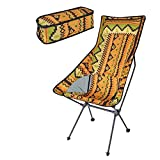 sgfd Backrest Chair Beach Hiking Fishing Folding Chair Outdoor Portable Lightweight Backpacking Camping Chairs with Carry Bag