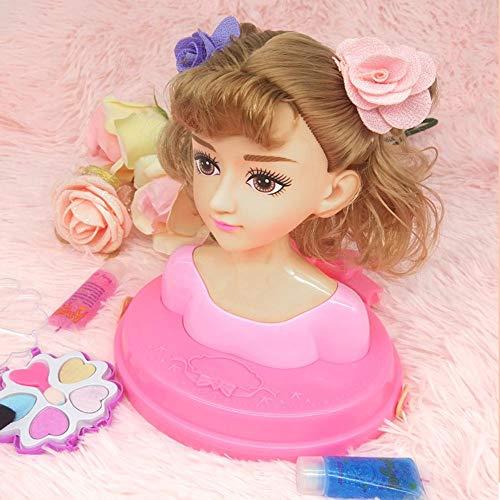 Further Busto Cabeza Muñeca Peinados para Peinar con Accesorios para Peinado y Belleza, Cabeza para maquillar y peinar Niñas a Partir de 3 años Cozy