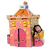 ROCK1ON DIY Doodle Wellpappe Spielhaus Kombination Schloss Rollenspiel Haus für Kinder Puppenhaus...