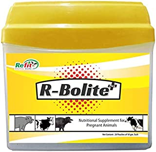REFIT ANIMAL CARE - Nutritional Supplement for Pregnant Cow, Cattle, & Buffalo (R-BOLITE+ Powder 20 Pouches Set)
