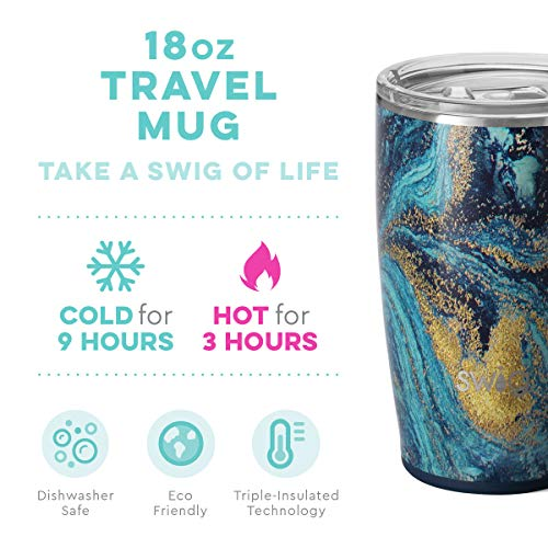 Swig Life 18oz Triple Insulated Travel Mug with Handle and Lid best cup to keep coffee hot