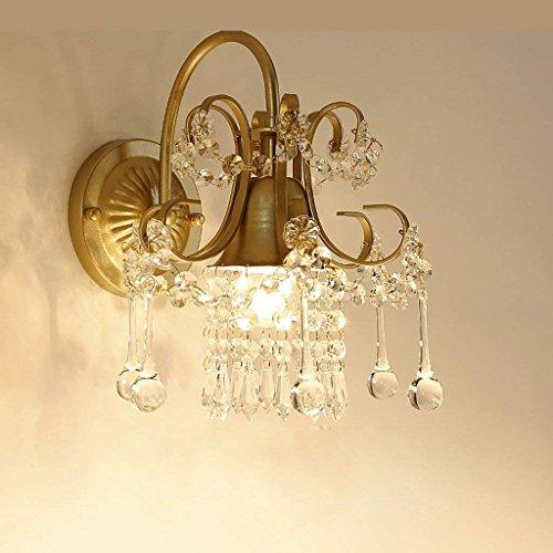 DSJ Crystal wandlamp woonkamer nachttafelspiegel lamp Jane Europa gang lamp slaapkamer romantische wandlamp, AAA