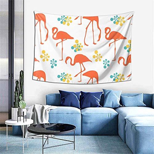 Tapiz de fruta de limón, decoración del hogar, cortina de puerta para dormitorio, sala de estar, exterior, 60 x 40 pulgadas, flamencos naranjas