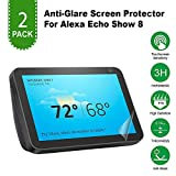 Anti Scratch/Anti Glare/Anti Fingerprint High Transmittance Easy Install [Bubble-Free] Matte Unbreakable PET Screen Protector for Amazon Alexa Echo Show 8 [2 Pack]