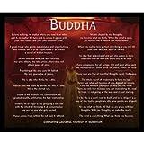 Buyartforless gerahmt Golden Buddha mit Motivational Quotes