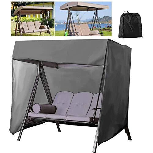 Mr.LQ Funda Protectora para Columpios, 3 Plazas Impermeable 210D Oxford Swing Chair Swing Cover Muebles De Jardín para Jardín Columpio Patio