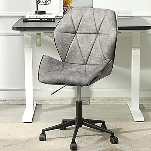 Bürostuhl ergonomischer Schreibtischstuhl ohne armlehne, Arbeitsstuhl Grau Kinderdrehstuhl Jugenddrehstuhl, Stoff Stuhl für Büro, Haus Konferenzstuhl Besucherstuhl Drehstuhl Belastbar bis 200kg
