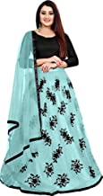 Evess Heavy Net Embroidered Semi-Stitched lehenga choli Blouse Piece and Duptta