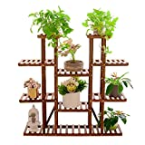 Multi-Tier Plant Stand, 46in Height Wood Flower Rack Holder...